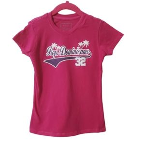 Girls Graphic Tee Short Sleeve Pink Size 6